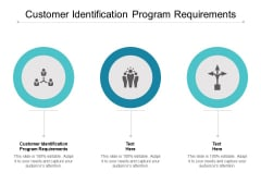 Customer Identification Program Requirements Ppt PowerPoint Presentation Infographic Template Gallery Cpb