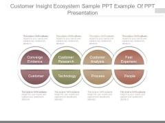 Customer Insight Ecosystem Sample Ppt Example Of Ppt Presentation