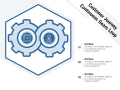 Customer Journey Continuous Gears Loop Ppt PowerPoint Presentation Infographic Template Professional