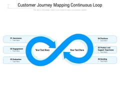 Customer Journey Mapping Continuous Loop Ppt PowerPoint Presentation File Design Ideas