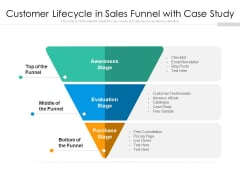 Customer Lifecycle In Sales Funnel With Case Study Ppt PowerPoint Presentation File Slides PDF