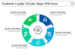 Customer Loyalty Circular Steps With Icons Ppt PowerPoint Presentation Outline Example Introduction