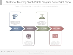Customer Mapping Touch Points Diagram Powerpoint Show