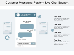 Customer Messaging Platform Live Chat Support Ppt PowerPoint Presentation Gallery Template