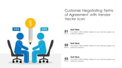 Customer Negotiating Terms Of Agreement With Vendor Vector Icon Ppt Model Images PDF