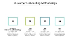 Customer Onboarding Methodology Ppt PowerPoint Presentation Inspiration Topics Cpb