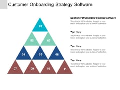Customer Onboarding Strategy Software Ppt Powerpoint Presentation Infographics Skills Cpb