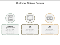 Customer Opinion Surveys Ppt Powerpoint Presentation Pictures Topics Cpb