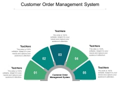 Customer Order Management System Ppt PowerPoint Presentation Portfolio Graphics Pictures Cpb