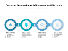 Customer Orientation With Teamwork And Discipline Ppt PowerPoint Presentation Pictures Graphics