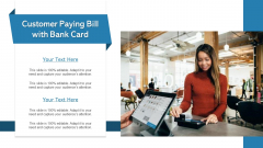Customer Paying Bill With Bank Card Ppt Summary Example Introduction PDF
