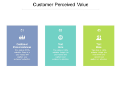 Customer Perceived Value Ppt PowerPoint Presentation Pictures Show Cpb