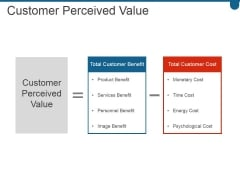 Customer Perceived Value Ppt PowerPoint Presentation Sample