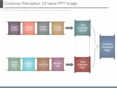 Customer Perception Of Value Ppt Image