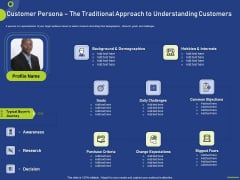 Customer Persona The Traditional Approach To Understanding Customers Clipart PDF