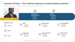 Customer Persona The Traditional Approach To Understanding Customers Slides PDF