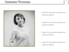 Customer Personas Ppt PowerPoint Presentation Portfolio Graphics Template