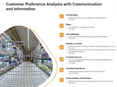 Customer Preference Analysis With Communication And Information Ppt PowerPoint Presentation Ideas Templates PDF