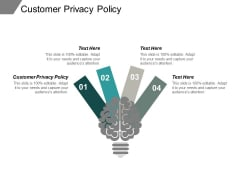 Customer Privacy Policy Ppt PowerPoint Presentation Show Introduction Cpb