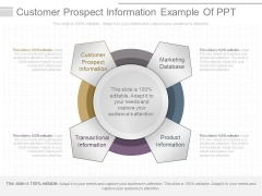 Customer Prospect Information Example Of Ppt