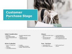 Customer Purchase Stage Ppt PowerPoint Presentation Infographics Designs