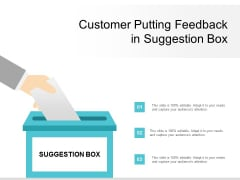 Customer Putting Feedback In Suggestion Box Ppt Powerpoint Presentation Outline Example