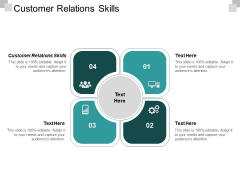 Customer Relations Skills Ppt PowerPoint Presentation Icon Tips Cpb