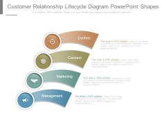 Customer Relationship Lifecycle Diagram Powerpoint Shapes