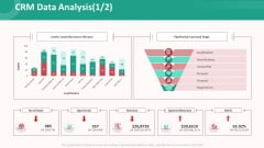 Customer Relationship Management Action Plan CRM Data Analysis Icon Background PDF