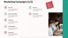 Customer Relationship Management Action Plan Marketing Campaigns Icon Slides PDF
