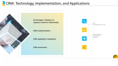 Customer Relationship Management CRM Technology Implementation And Applications Pictures PDF
