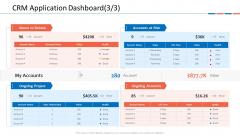 Customer Relationship Management Dashboard CRM Application Dashboard Risk Guidelines PDF