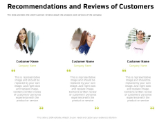Customer Relationship Management In Freehold Property Recommendations And Reviews Of Customers Clipart PDF
