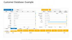 Customer Relationship Management Procedure Customer Database Example Topics PDF