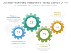 Customer Relationship Management Process Example Of Ppt