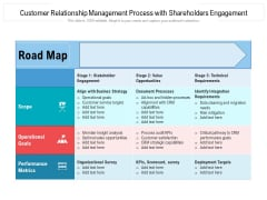 Customer Relationship Management Process With Shareholders Engagement Ppt PowerPoint Presentation Gallery Example File PDF