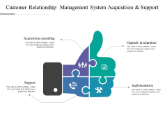 Customer Relationship Management System Acquisition And Support Ppt PowerPoint Presentation Professional File Formats