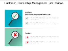 Customer Relationship Management Tool Reviews Ppt PowerPoint Presentation Slides Gallery Cpb