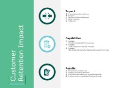 Customer Retention Impact Ppt Powerpoint Presentation Inspiration Design Templates