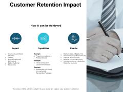 Customer Retention Impact Ppt PowerPoint Presentation Portfolio Show