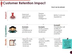 Customer Retention Impact Ppt PowerPoint Presentation Portfolio Templates
