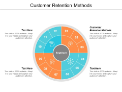 Customer Retention Methods Ppt PowerPoint Presentation Infographics Designs Download Cpb