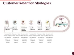 Customer Retention Strategies Ppt PowerPoint Presentation Icon