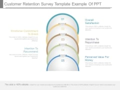 Customer Retention Survey Template Example Of Ppt