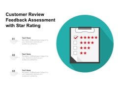 Customer Review Feedback Assessment With Star Rating Ppt PowerPoint Presentation File Slides PDF