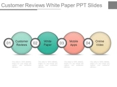 Customer Reviews White Paper Ppt Slides