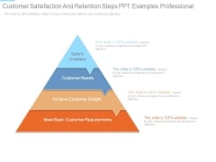 Customer Satisfaction And Retention Steps Ppt Examples Professional