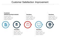 Customer Satisfaction Improvement Ppt PowerPoint Presentation Model Templates
