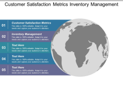 Customer Satisfaction Metrics Inventory Management Ppt PowerPoint Presentation Summary Outfit