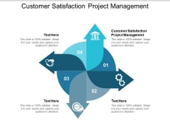 Customer Satisfaction Project Management Ppt PowerPoint Presentation Layouts Background Image Cpb